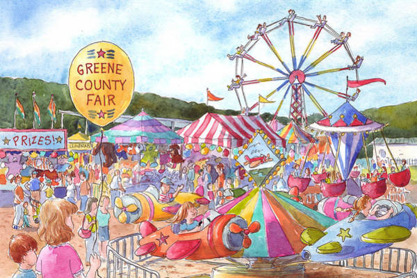 County Fair Painting - Greene County Fair by Leslie Fehling