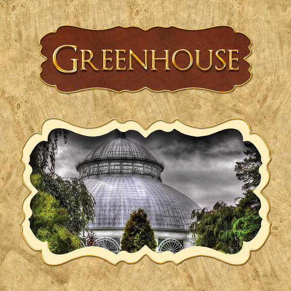Photograph - Greenhouse  Button by Mike Savad
