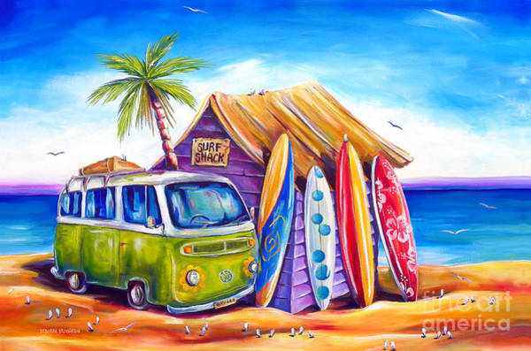 Surf Painting - Greenie by Deb Broughton