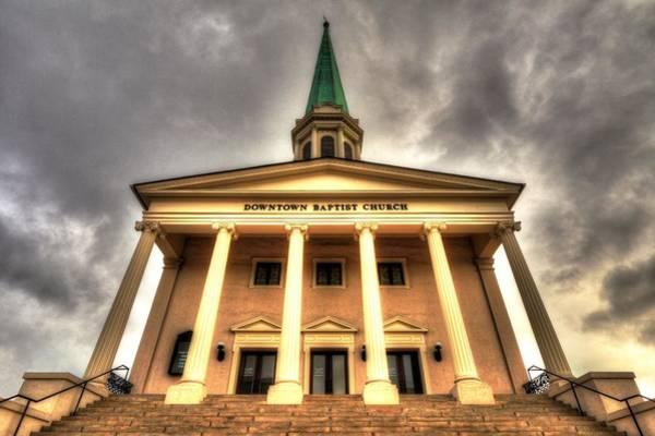 Photograph - Greenville First Baptist Church by Carol Montoya