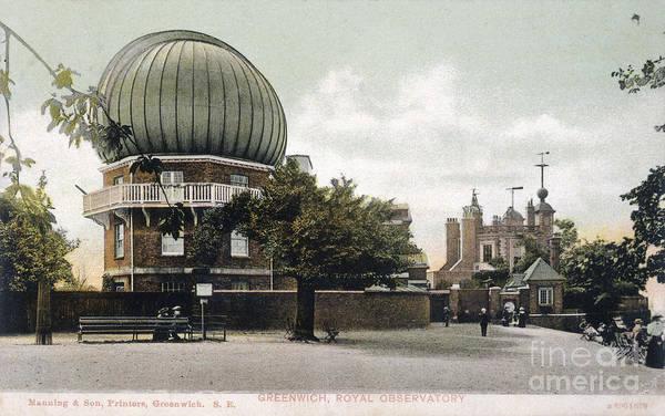 Photograph - Greenwich Observatory by Mary Evans Picture Library