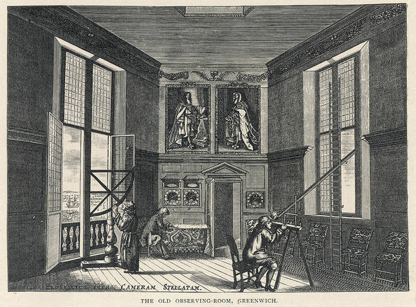 Wall Art - Drawing - Greenwich Observatory  The Old by Mary Evans Picture Library