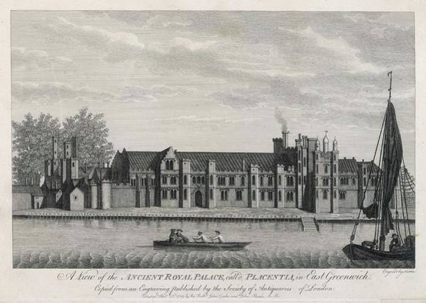 Wall Art - Drawing - Greenwich Palace, Named By  Henry Vi by Mary Evans Picture Library