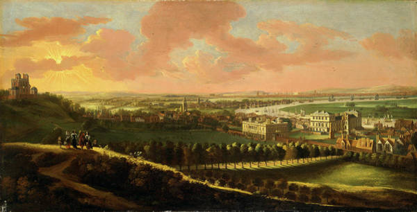 Wall Art - Painting - Greenwich, With London In The Distance View Of London by Litz Collection