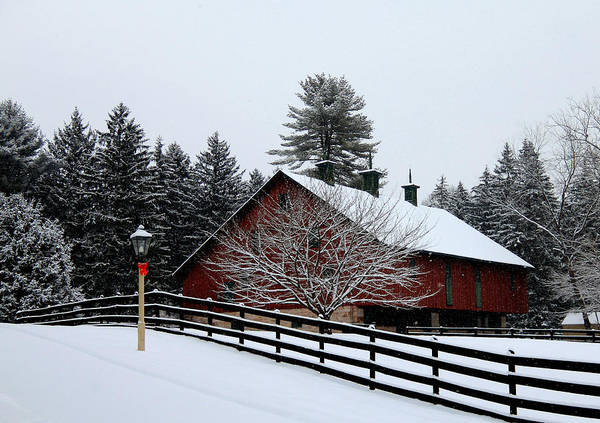 Barn Snow Digital Art - Greetings From Clarks Valley by Sharon Batdorf