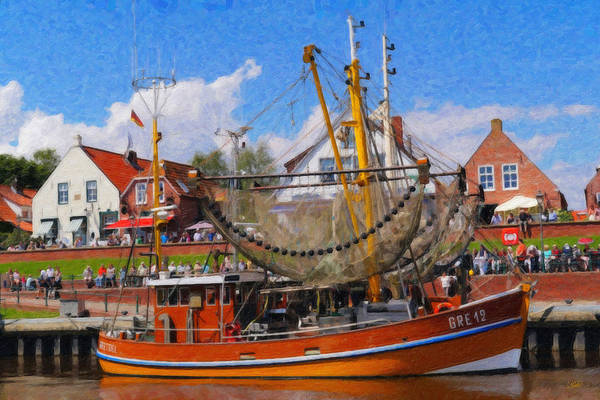 Painting - Greetsiel North Sea Ger3537 by Dean Wittle