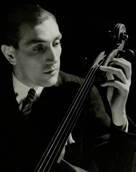 Photograph - Gregor Piatigorsky With A Cello by Frances Mclaughlin-Gill