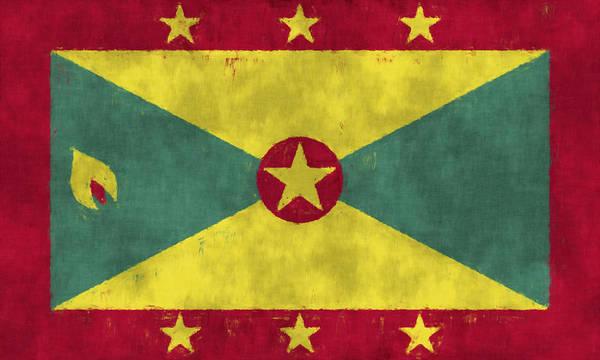 Carribean Islands Digital Art - Grenada Flag by World Art Prints And Designs