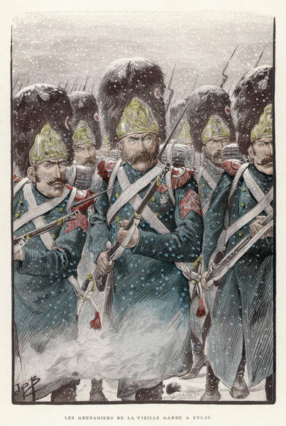 Wall Art - Drawing - Grenadiers Of The Garde  Imperiale by Mary Evans Picture Library
