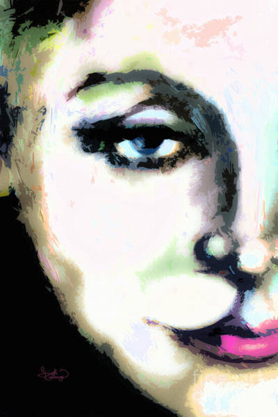 Painting - Greta Garbo Modern Art Portrait  by Ginette Callaway