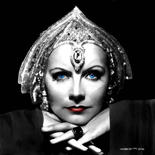 Digital Art - Greta Garbo Portrait by Gabriel T Toro