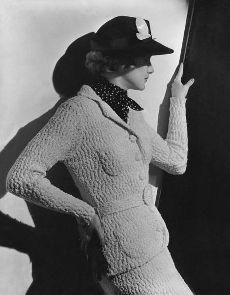 Knit Hat Photograph - Gretchen Uppercue Wearing A Suit And Hat by Lusha Nelson