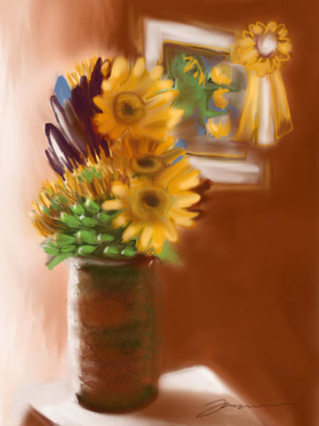 Painting - Gretchens Flowers by Jean Pacheco Ravinski