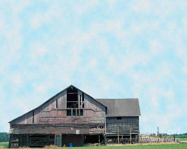 Photograph - Grey Barn by Gena Weiser