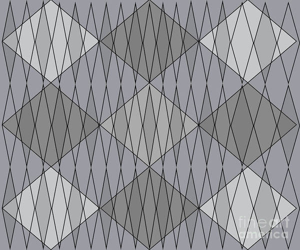 Painting - Grey Diamond Plaid by Anne Cameron Cutri