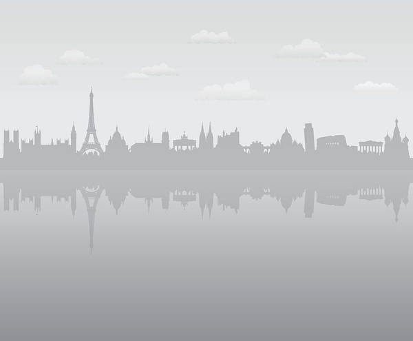 Exterior Digital Art - Grey Europe by Leontura