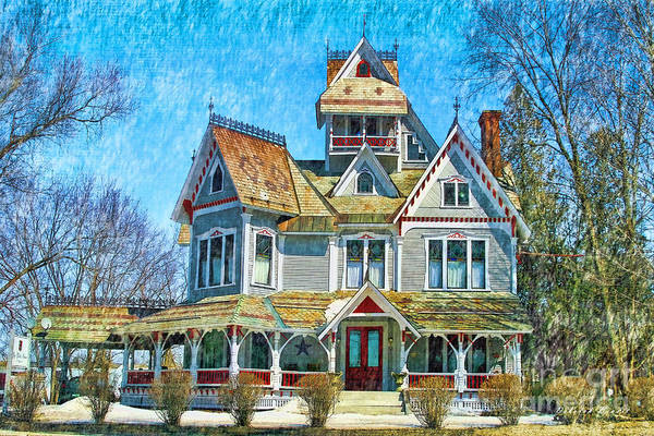 Photograph - Grey Gables Mansion by Deborah Benoit