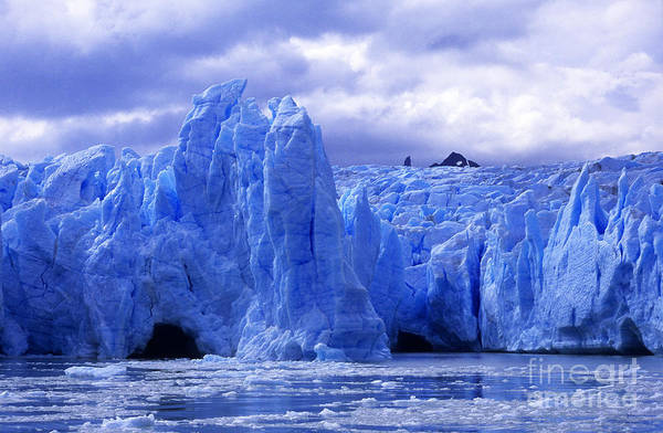 Photograph - Grey Glacier Patagonia Chile by James Brunker