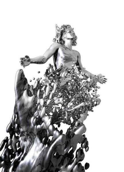 The Grey Photograph - Grey Goo Engulfing Man by Victor Habbick Visions/science Photo Library