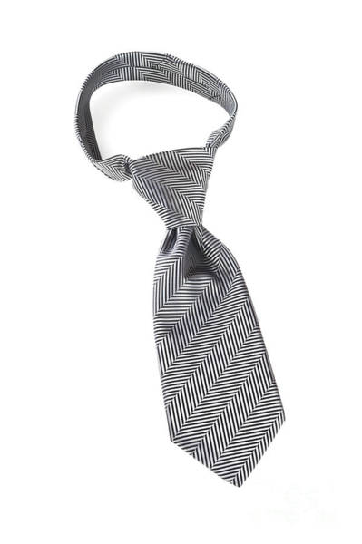 Necktie Wall Art - Photograph - Grey Necktie With Windsor Knot by Colin and Linda McKie