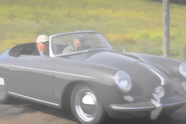 Photograph - Grey Porsch 356 by Jack R Perry