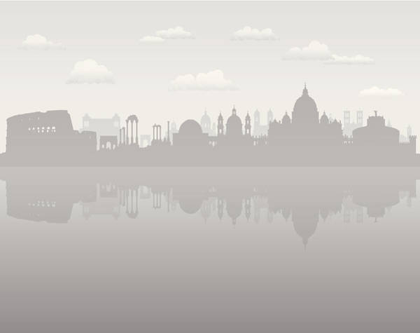 Exterior Digital Art - Grey Rome by Leontura