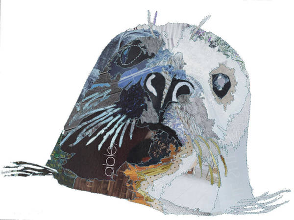 Stitch Painting - Grey Seal by MGL Meiklejohn Graphics Licensing