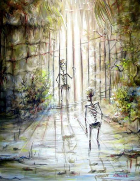 Gateway Painting - Grey Skeleton Gate by Heather Calderon
