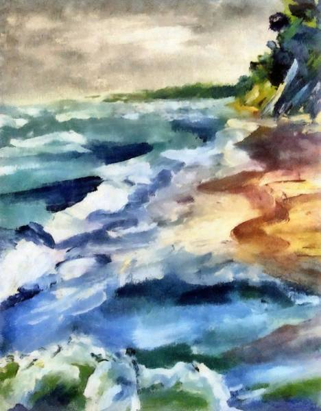 Painting - Grey Sky Day On The Lake by Michelle Calkins