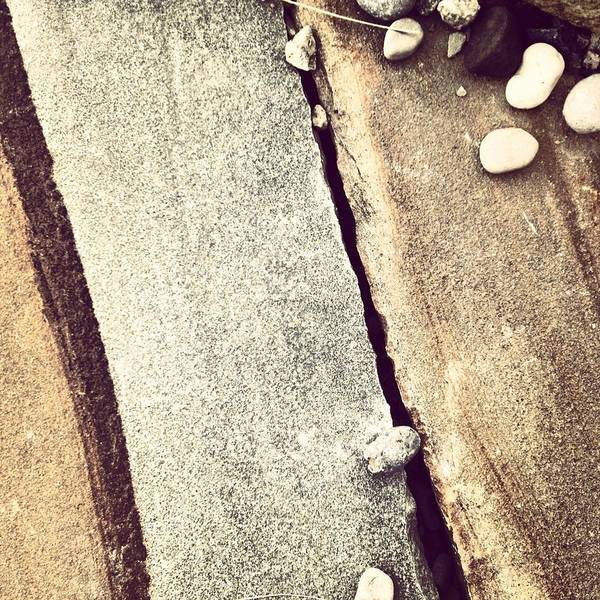 Abstract Photograph - Grey Stone Abstract by Christy Beckwith