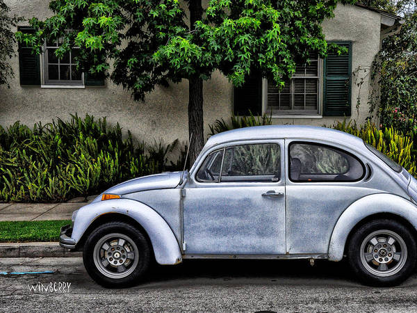 Digital Art - Grey Vw by Bob Winberry