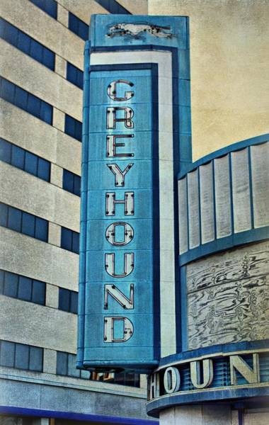 Photograph - Greyhound Sign by Sandy Keeton