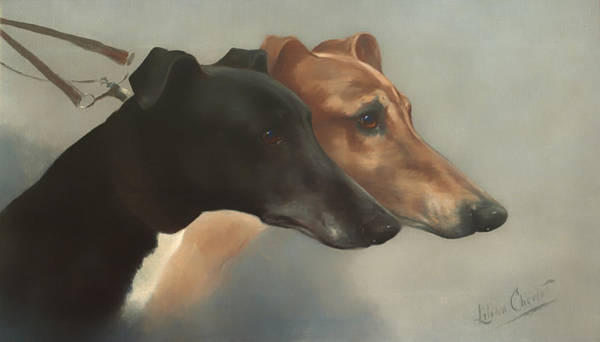 Artistry Painting - Greyhounds  by Mountain Dreams