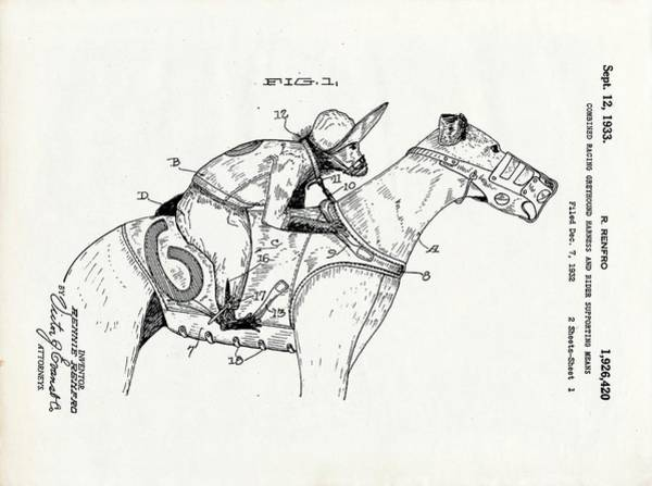 Greyhouse Racing Patent Art Print