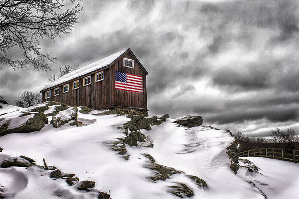 Photograph - Greyledge Farm After The Storm by John Vose