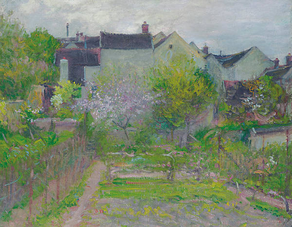 Allotment Wall Art - Painting - Grez Sur Loing by Robert William Vonnoh