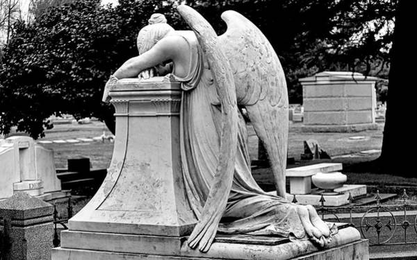 Photograph - Grieving Angel by AJ  Schibig