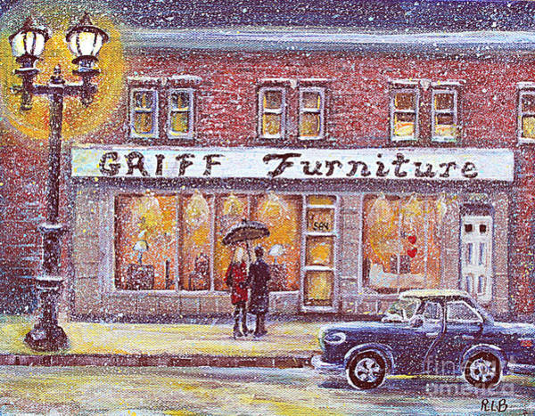 Shopping Painting - Griff Valentines' Birthday by Rita Brown