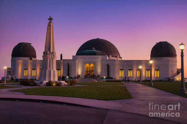 Photograph - Griffith Observatory by Eddie Yerkish
