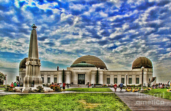 Photograph - Griffith Observatory Los Angeles By Diana Sainz by Diana Raquel Sainz