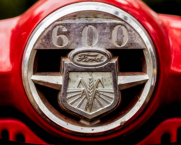 Tractor Photograph - Grill Logo Detail - 1950s-vintage Ford 601 Workmaster Tractor by Jon Woodhams