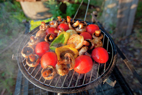 Barbecue Photograph - Grilling Vegetables For The Party by Panoramic Images