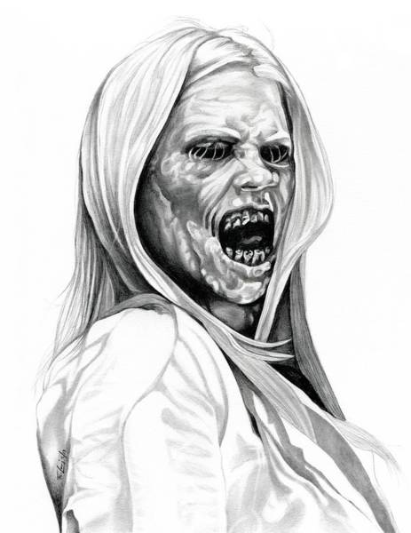 Witches Drawing - Grimm Hexenbiest by Fred Larucci