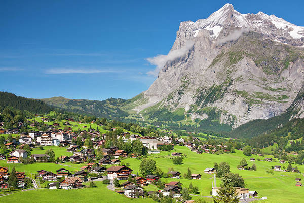 Photograph - Grindelwald And Wetterhorn, Swiss Alps by Michaelutech