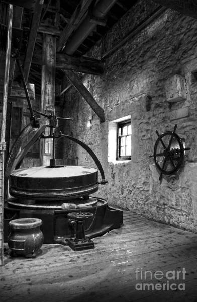 Photograph - Grinder For Unmalted Barley In An Old Distillery by RicardMN Photography