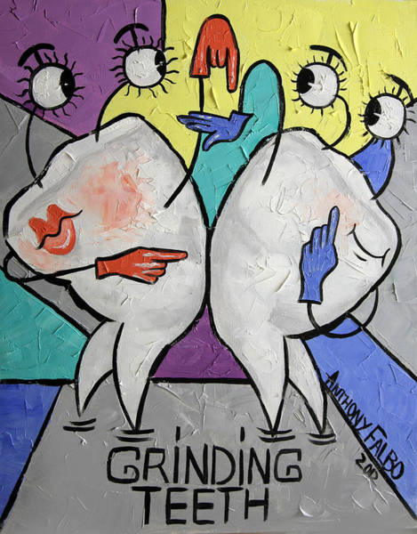 Painting - Grinding Teeth by Anthony Falbo