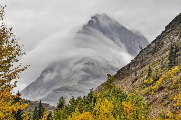 Glacier National Park Photograph - Grinnell Cloud Wrap by Mark Kiver