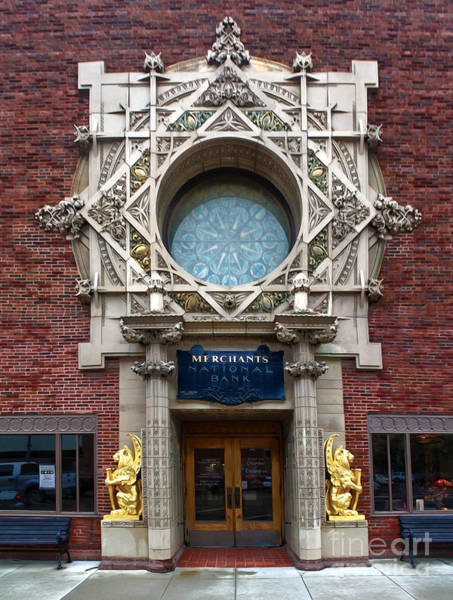 Sullivan County Photograph - Grinnell Iowa - Louis Sullivan - Jewel Box Bank - 05 by Gregory Dyer