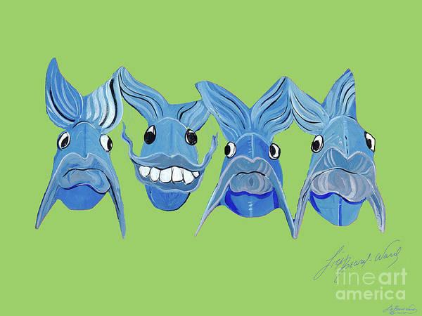 Painting - Grinning Fish by Lizi Beard-Ward