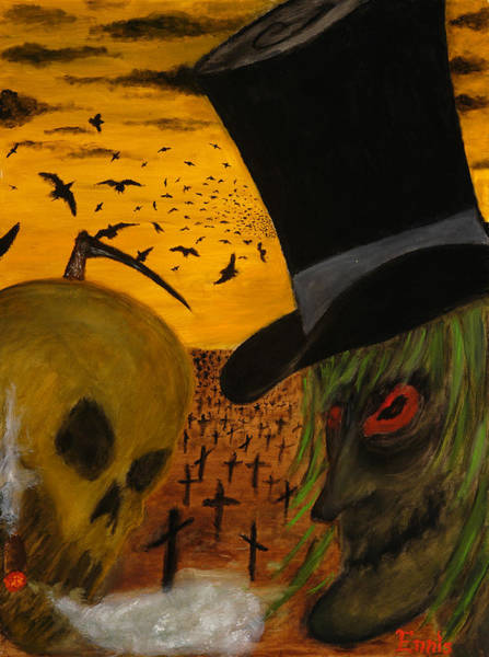 Painting - Grinning With The Undertaker by Christophe Ennis